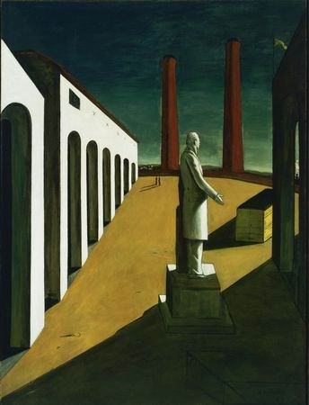 Figure 1: Giorgio de Chirico, The Enigma of a Day (1914)